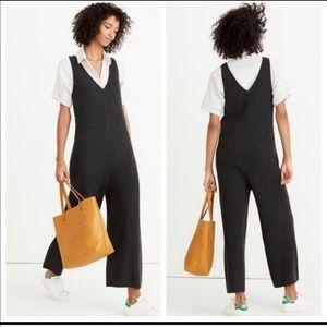 Madewell Grey Merino Wool Sleeveless Jumpsuit